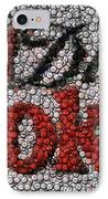 Diet Coke Bottle Cap Mosaic IPhone Case by Paul Van Scott