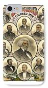 Distinguished Colored Men   1883 IPhone Case by Daniel Hagerman