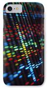Dna Sequence On A Computer Monitor Screen IPhone Case by Tek Image