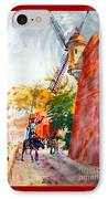 Don Quixote In San Juan IPhone Case by Estela Robles
