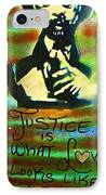 Dr. Cornel West Justice IPhone Case by Tony B Conscious
