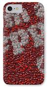 Dr. Pepper Bottle Cap Mosaic IPhone Case by Paul Van Scott