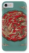 Dragon And Phoenix IPhone Case by Kristin Elmquist
