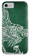 Dragon On Chalkboard IPhone Case by Setsiri Silapasuwanchai