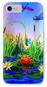 Dragonfly Pond IPhone Case by Hanne Lore Koehler