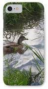 Duck Swimming In Stream IPhone Case
