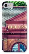 Duquesne Incline Of Pittsburgh IPhone Case by Lisa Russo