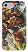 Dynamism Of A Cyclist IPhone Case by Umberto Boccioni