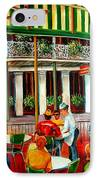 Early Morning At The Cafe Du Monde IPhone Case by Diane Millsap