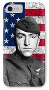 Eddie Rickenbacker And The American Flag IPhone Case by War Is Hell Store