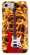 Electric Guitar With Sparks IPhone Case by Garry Gay