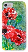 Elegant Poppies IPhone Case