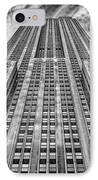 Empire State Building Black And White IPhone Case by John Farnan