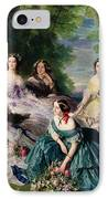 Empress Eugenie Surrounded By Her Ladies In Waiting IPhone Case by Franz Xaver Winterhalter