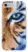 Eye Of The Tiger IPhone Case by JC Findley