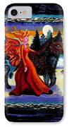 Faerie And Wolf IPhone Case by Genevieve Esson