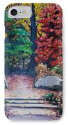 Fall In Quebec Canada IPhone Case by Karin  Dawn Kelshall- Best