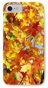 Fall Leaves Background IPhone Case by Carlos Caetano