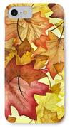 Fall Maple Leaves IPhone Case by Christina Meeusen