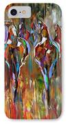 Falling Into Winter Herd IPhone Case by Laurie Pace
