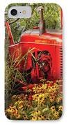 Farm - Tractor - A Pony Grazing IPhone Case by Mike Savad