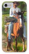 Farmer On A Horse IPhone Case