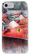 Ferrari Dino 246 F1 1958 Mike Hawthorn French Gp  IPhone Case by Yuriy  Shevchuk