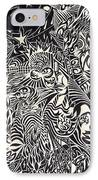 Fire Breathing Cow IPhone Case by Sean Corcoran