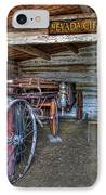 Firefighting Engine Company No. 1 - Nevada City Montana Ghost Town IPhone Case by Daniel Hagerman