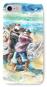 Fishermen In Praia De Mira IPhone Case
