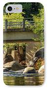 Fishing In Deer Creek IPhone Case by James Eddy