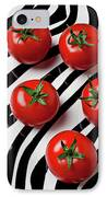 Five Tomatoes  IPhone Case by Garry Gay