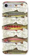 Five Trout Panel IPhone Case