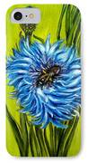 Flower And Bee Oil Painting IPhone Case by Natalja Picugina