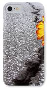 Flower In Asphalt IPhone Case by Carlos Caetano