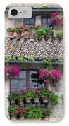 Flower Pots In Windows In Arles IPhone Case by Carson Ganci