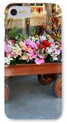 Flower Wagon IPhone Case by Perry Webster