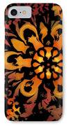 Flower Woodcut IPhone Case