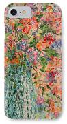 Flowers In Crystal Vase. IPhone Case
