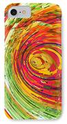 Fluorescent Wormhole IPhone Case by Shawna Rowe