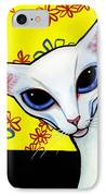 Foreign White Cat IPhone Case by Leanne Wilkes