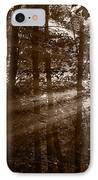 Forest Mist B And W IPhone Case by Steve Gadomski