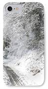 Forest Service Road 76 IPhone Case by Thomas R Fletcher