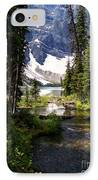 Forest View To Mountain Lake IPhone Case by Greg Hammond