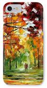 Forrest Of Dreams IPhone Case by Leonid Afremov