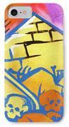 Found Graffiti 28 Cat IPhone Case by Jera Sky