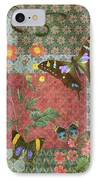 Four Butterfly Patch Green IPhone Case