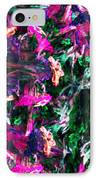 Fractal Floral Riot IPhone Case by David Lane