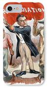 Free Silver Cartoon, 1896 IPhone Case by Granger