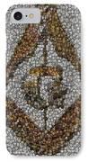 Freemason Coin Mosaic IPhone Case